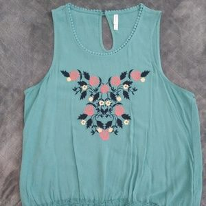 Embroided tank top